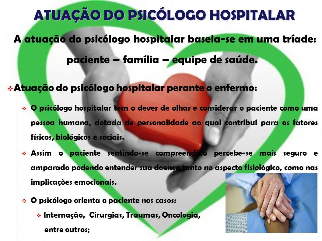 ATUAÇÃO DO PSICÓLOGO HOSPITALAR
