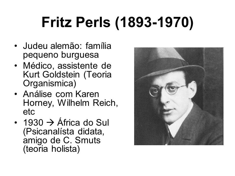 Fritz Perls (1893-1970) Judeu alemão: família pequeno burguesa
