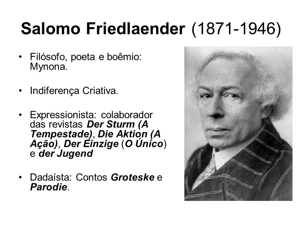 Salomo Friedlaender ( )