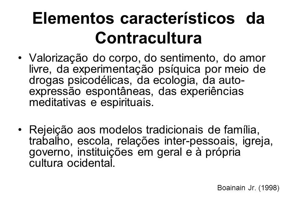 Elementos característicos da Contracultura