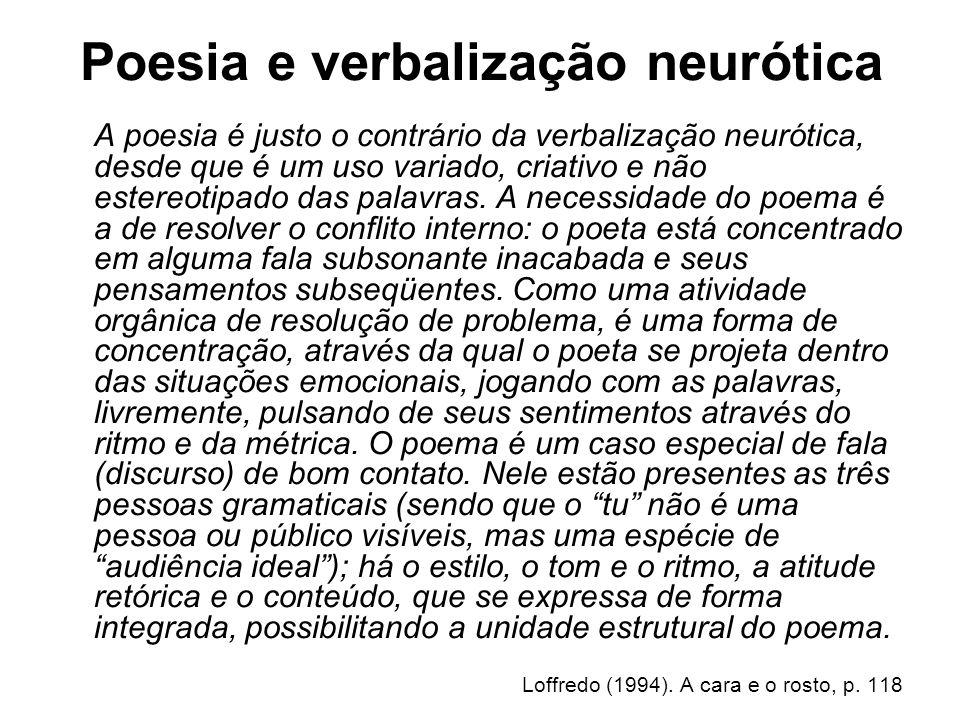 Poesia e verbalização neurótica
