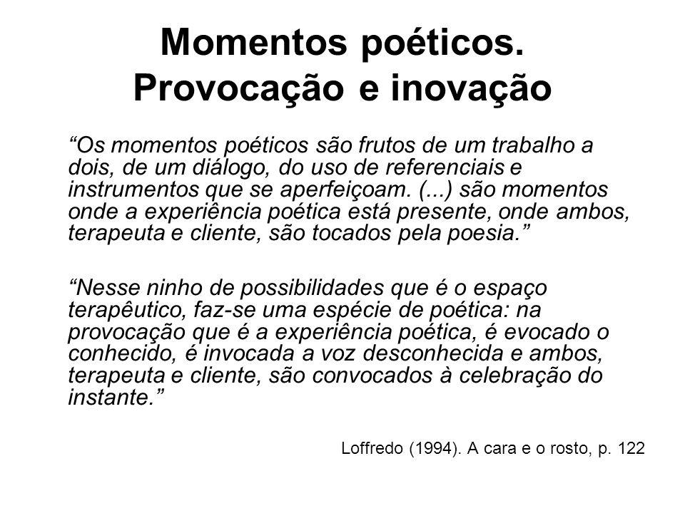 Momentos poéticos. Provocação e inovação