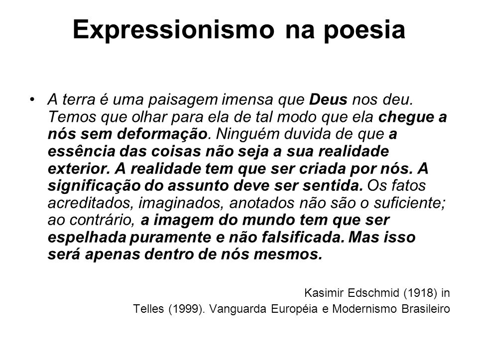 Expressionismo na poesia