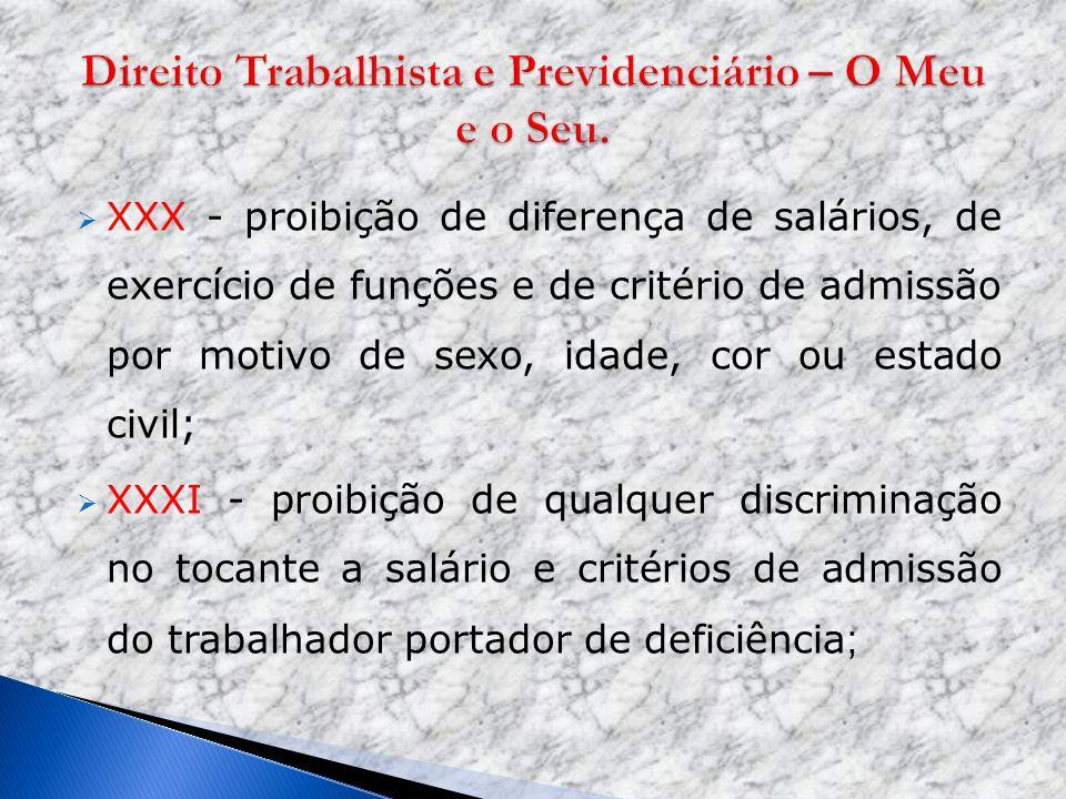 Direito Trabalhista e Previdenciário – O Meu e o Seu.