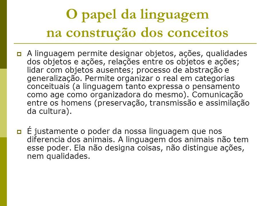 O papel da linguagem na construção dos conceitos