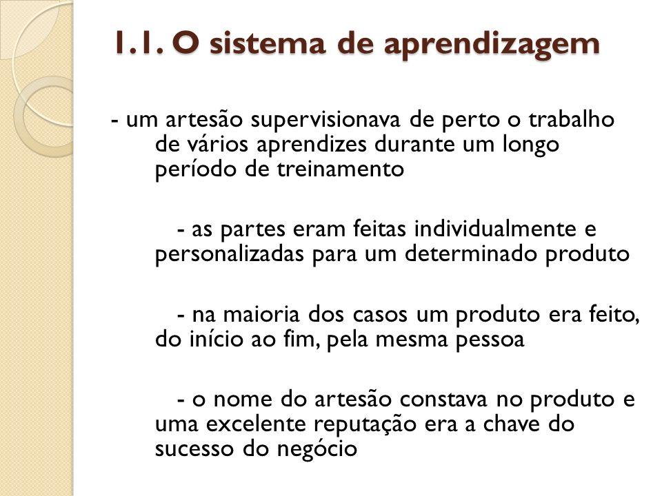 1.1. O sistema de aprendizagem