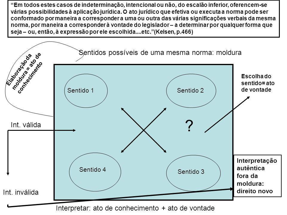 Sentidos possíveis de uma mesma norma: moldura Int. válida