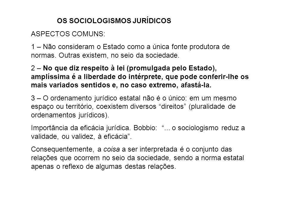 OS SOCIOLOGISMOS JURÍDICOS