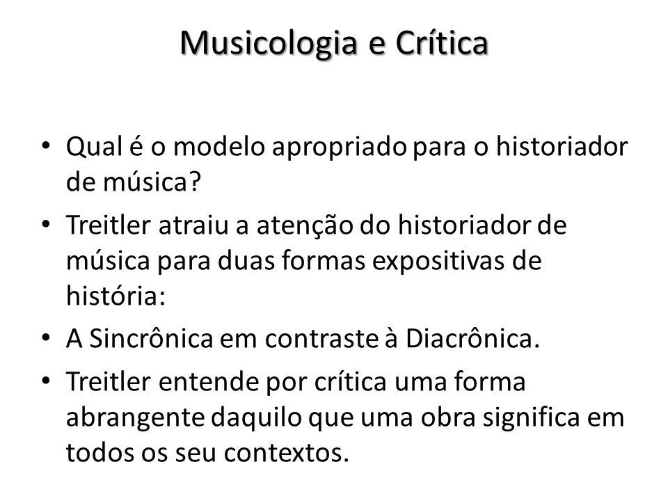 Musicologia e Crítica Qual é o modelo apropriado para o historiador de música
