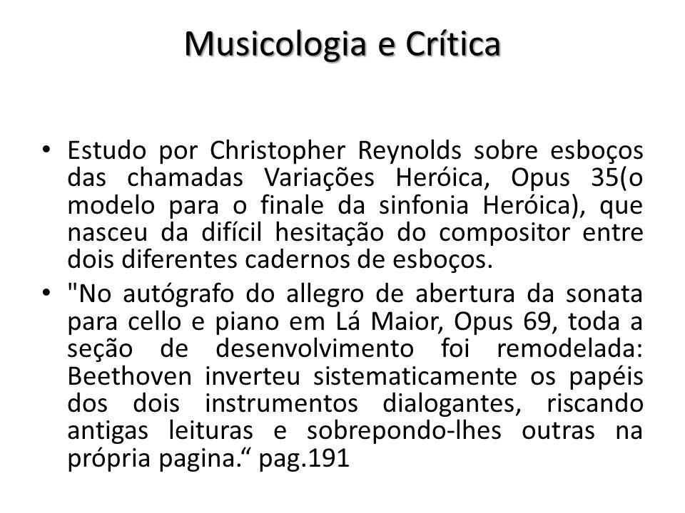 Musicologia e Crítica