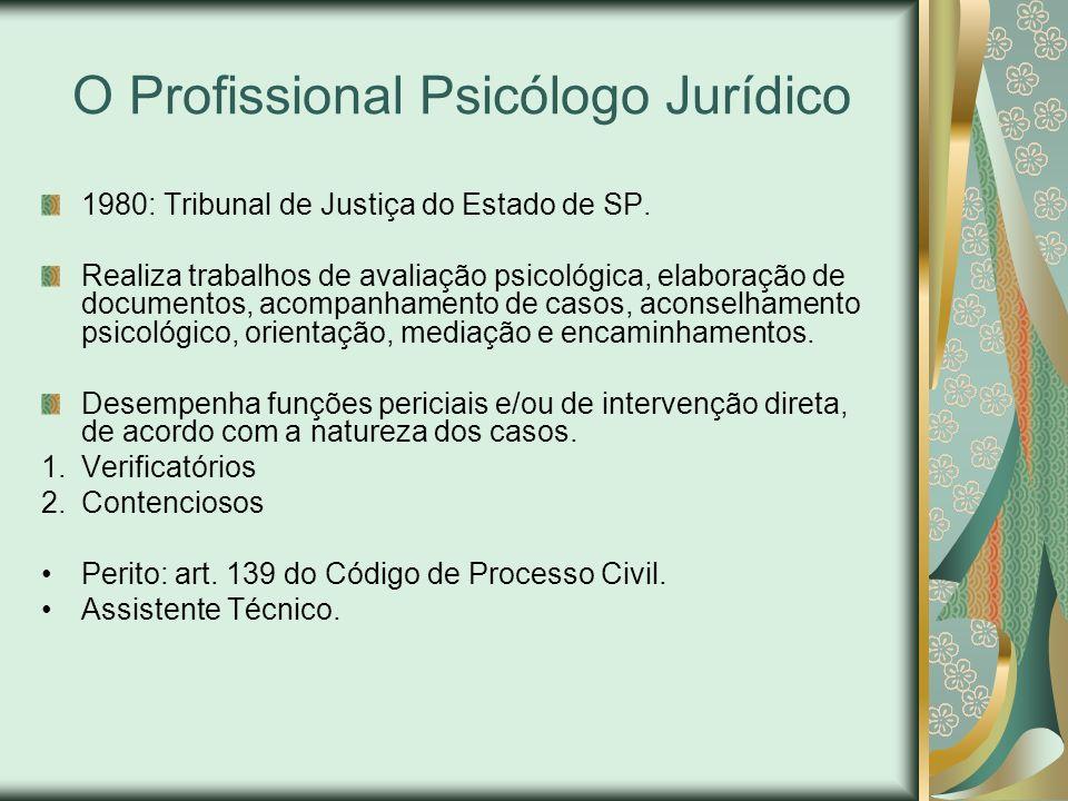 O Profissional Psicólogo Jurídico