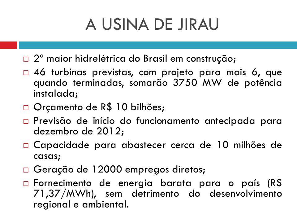 A USINA DE JIRAU 2ª maior hidrelétrica do Brasil em construção;