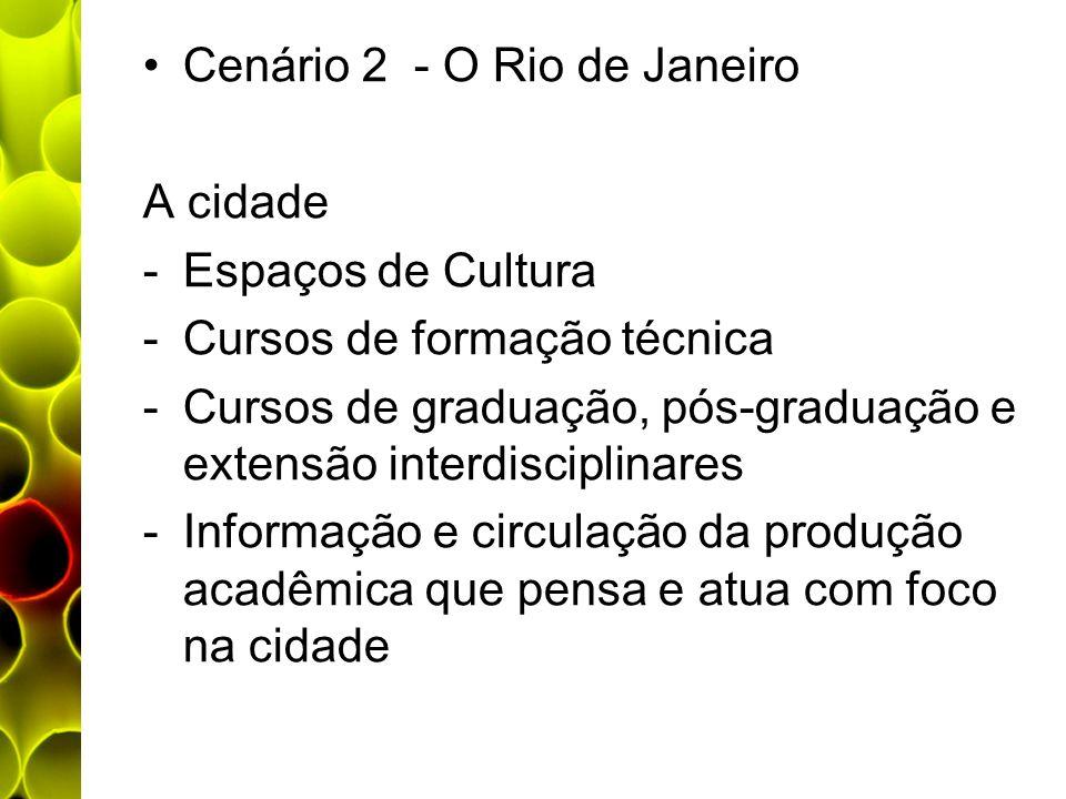 Cenário 2 - O Rio de Janeiro