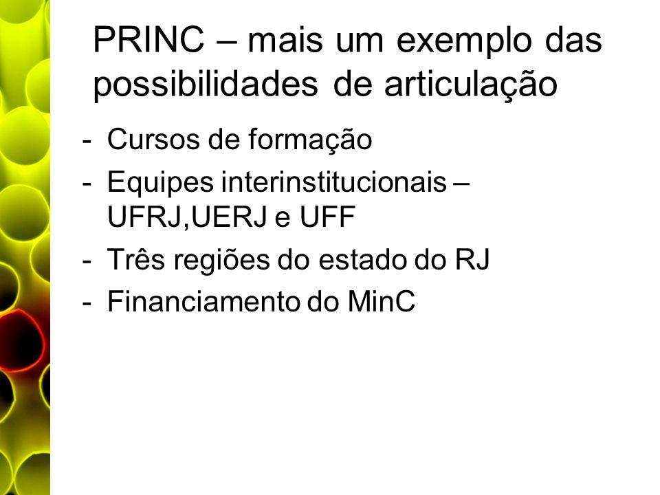 PRINC – mais um exemplo das possibilidades de articulação