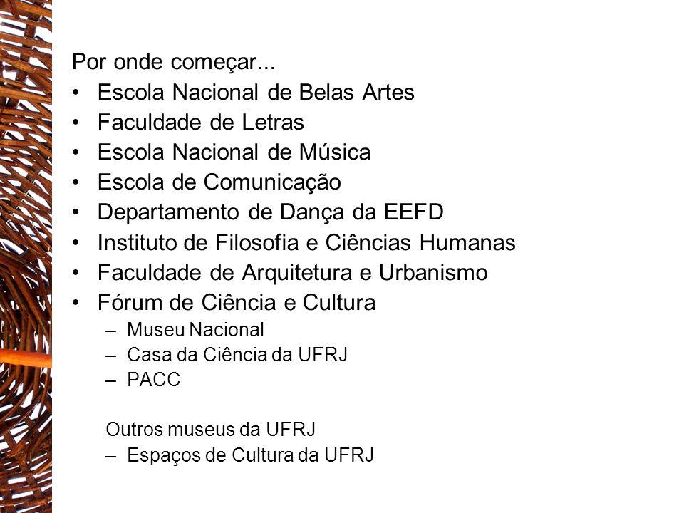 Escola Nacional de Belas Artes Faculdade de Letras