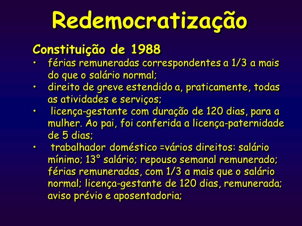 Redemocratização Constituição de 1988