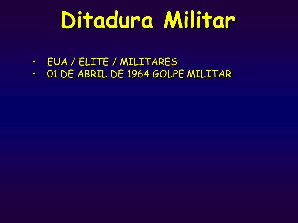 Ditadura Militar EUA / ELITE / MILITARES