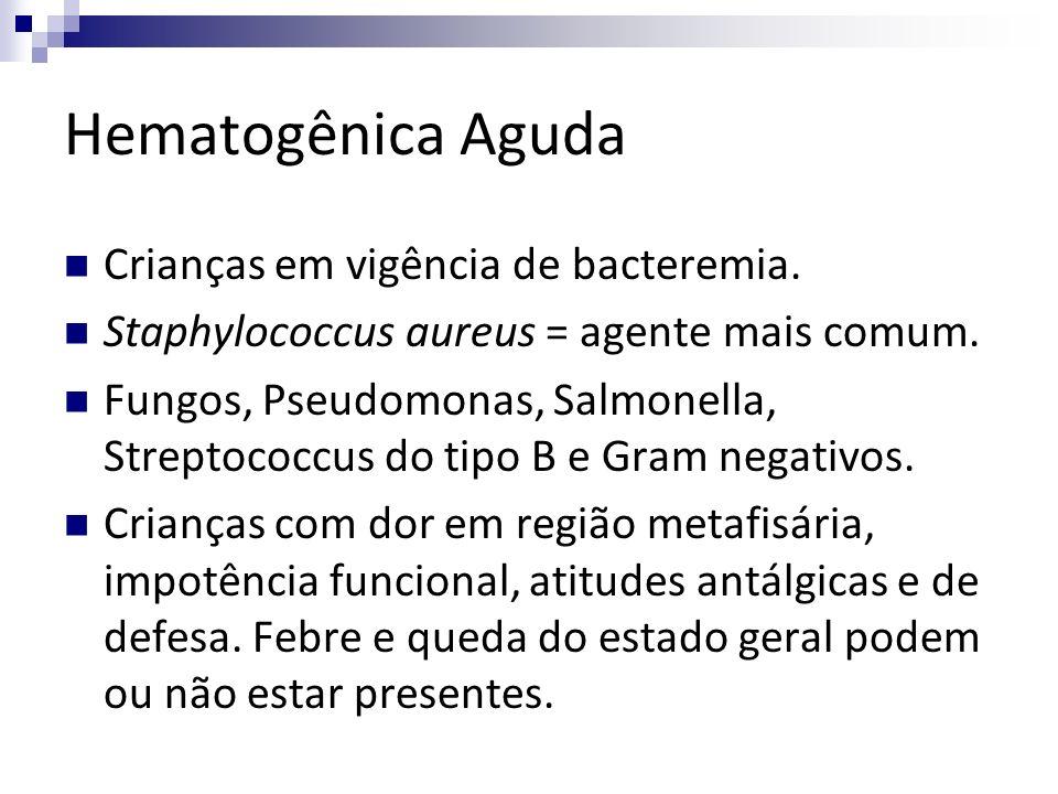 Hematogênica Aguda Crianças em vigência de bacteremia.