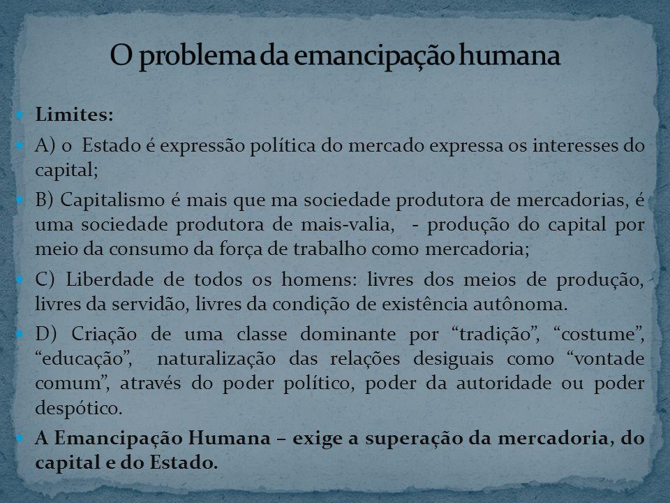 O problema da emancipação humana