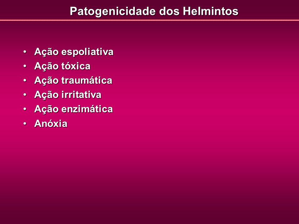 Patogenicidade dos Helmintos