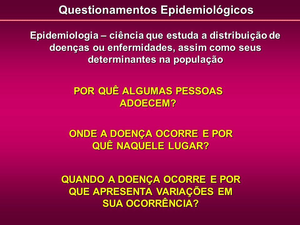 Questionamentos Epidemiológicos