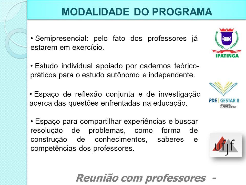 MODALIDADE DO PROGRAMA