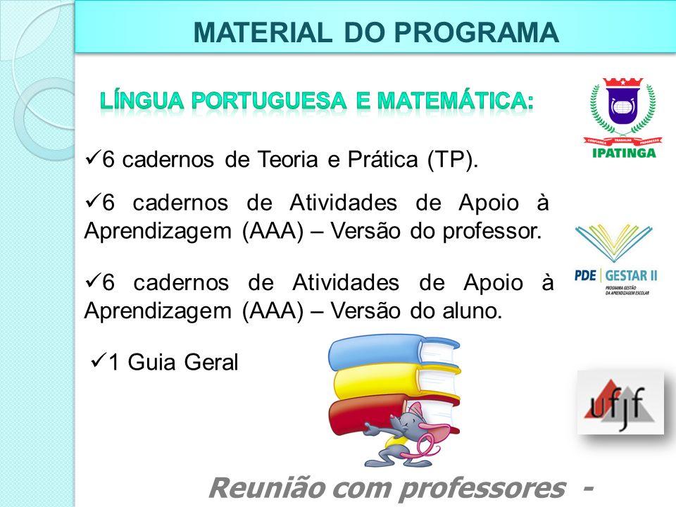 Língua portuguesa e MATEMÁTICA: