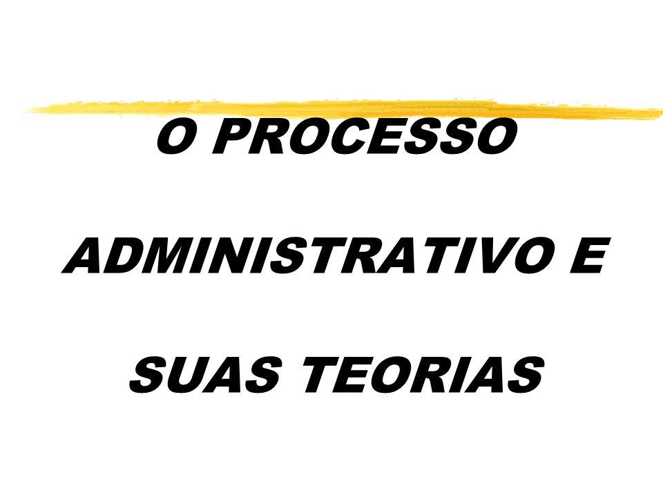 O PROCESSO ADMINISTRATIVO E SUAS TEORIAS