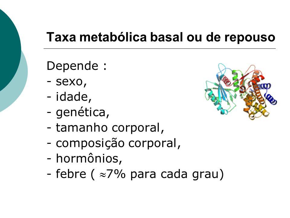 Taxa metabólica basal ou de repouso