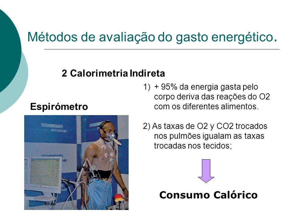 Métodos de avaliação do gasto energético.