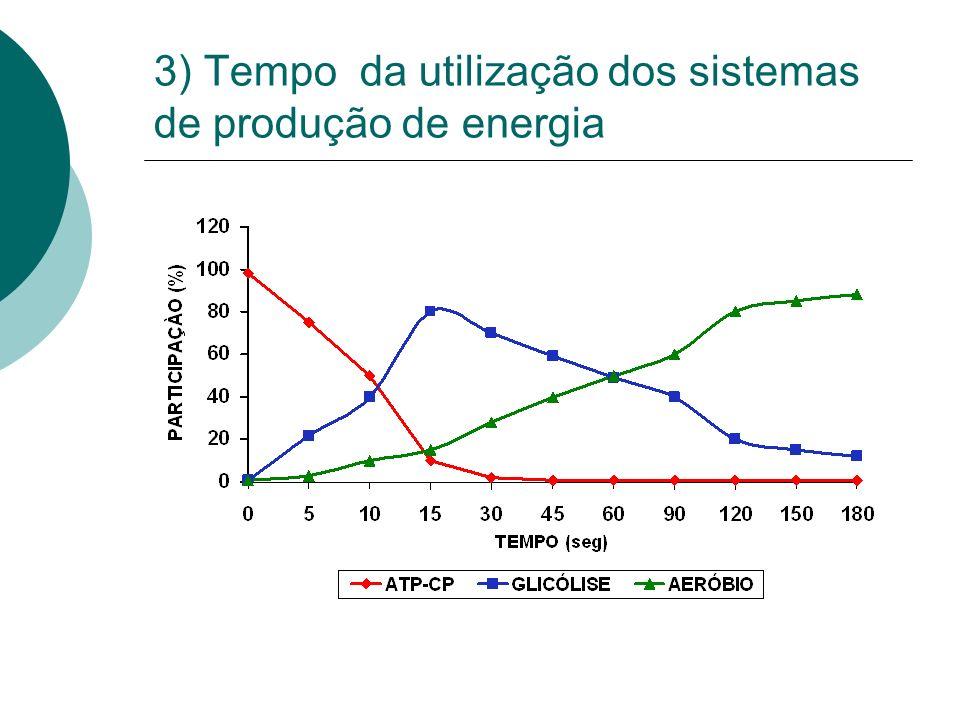 3) Tempo da utilização dos sistemas de produção de energia