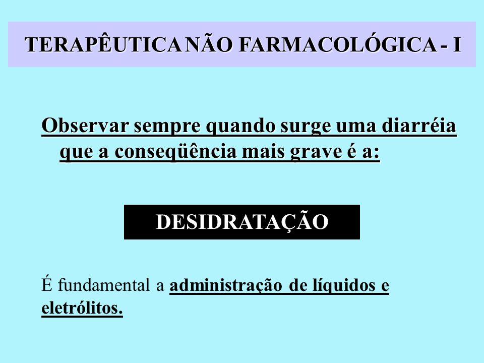 TERAPÊUTICA NÃO FARMACOLÓGICA - I