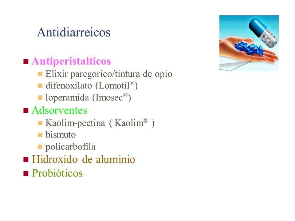 Antidiarreicos Antiperistalticos Adsorventes Hidroxido de aluminio