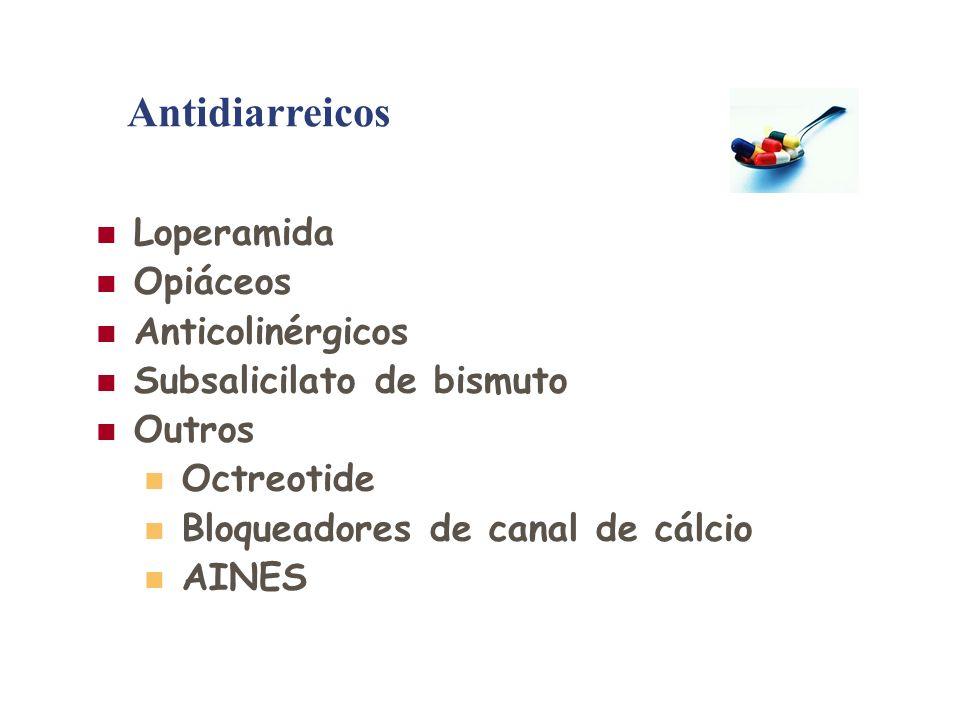 Antidiarreicos Loperamida Opiáceos Anticolinérgicos