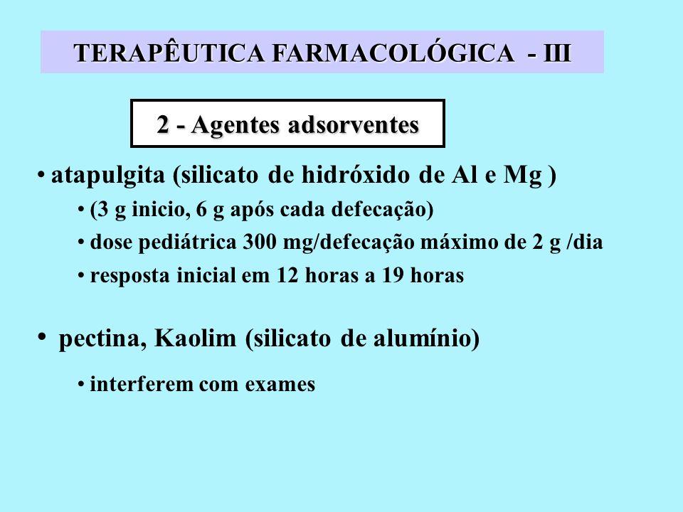 TERAPÊUTICA FARMACOLÓGICA - III