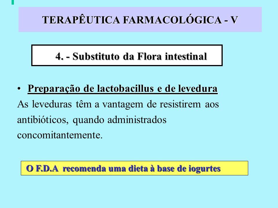 TERAPÊUTICA FARMACOLÓGICA - V