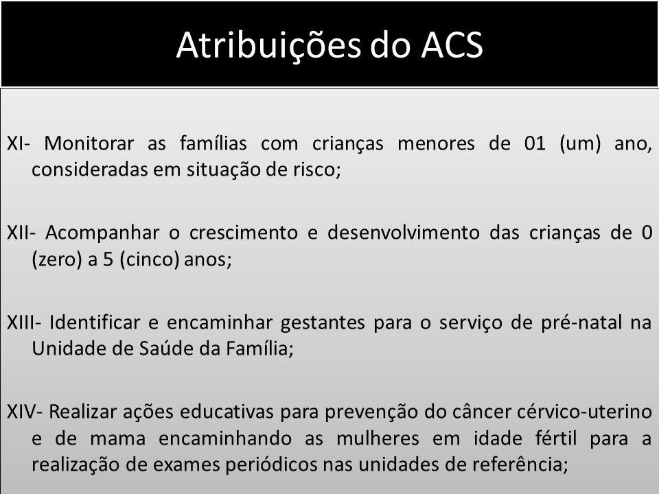 Atribuições do ACS