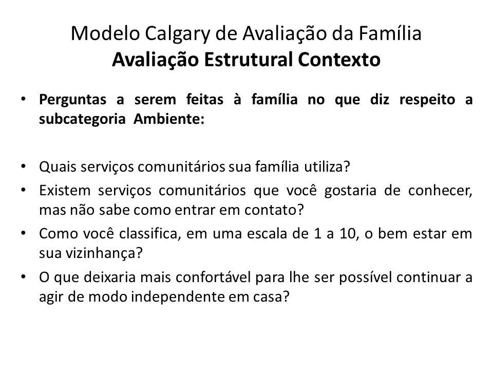 Modelo Calgary de Avaliação da Família Avaliação Estrutural Contexto
