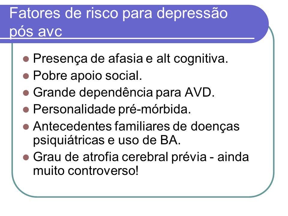 Fatores de risco para depressão pós avc