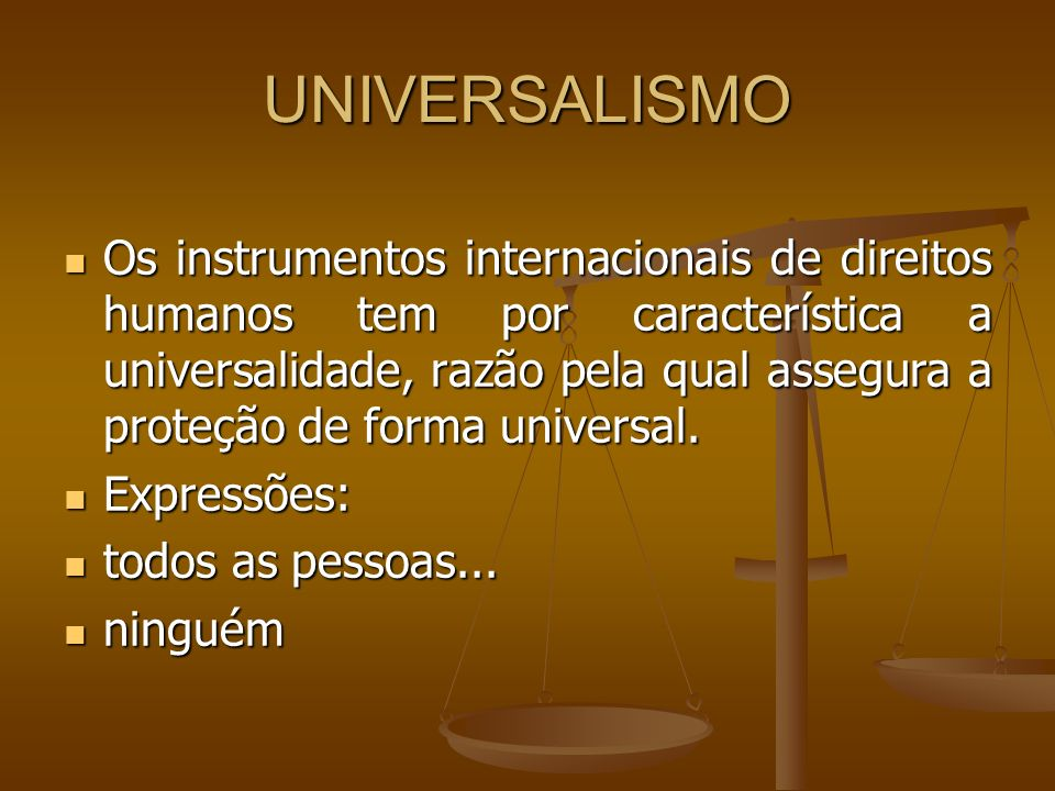 UNIVERSALISMO