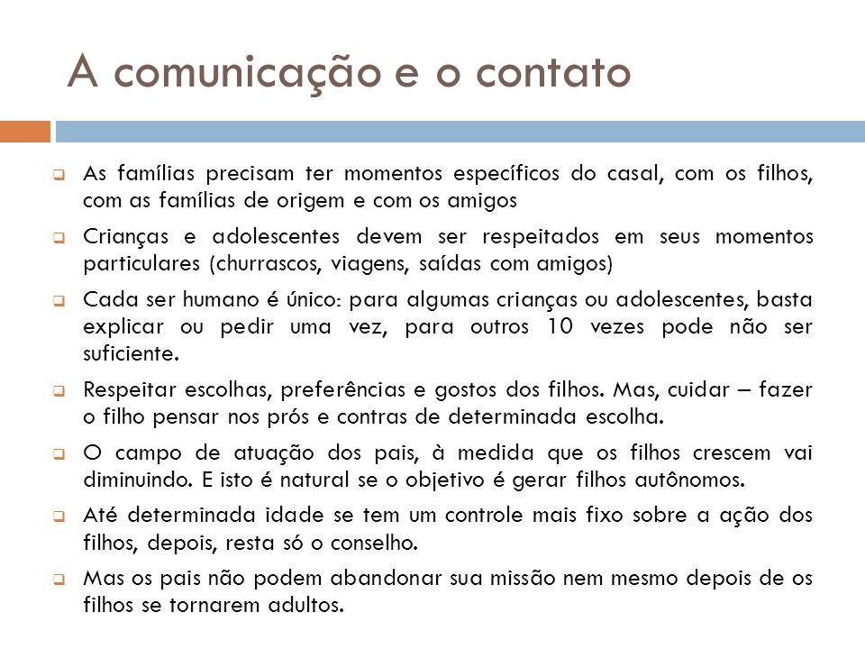 A comunicação e o contato