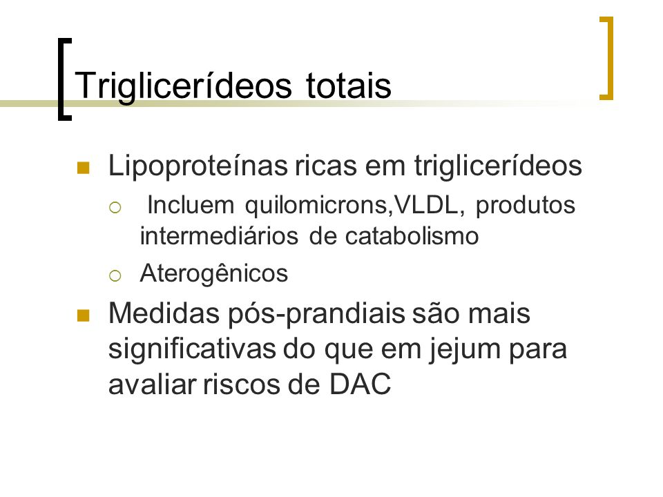 Triglicerídeos totais