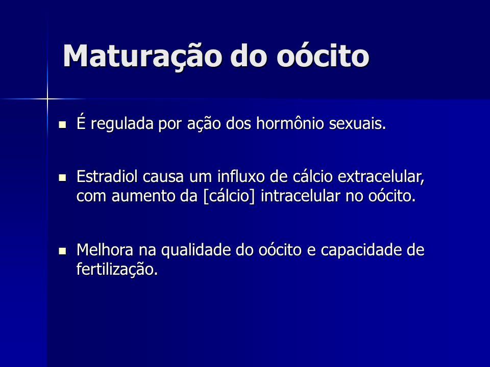 Maturação do oócito É regulada por ação dos hormônio sexuais.
