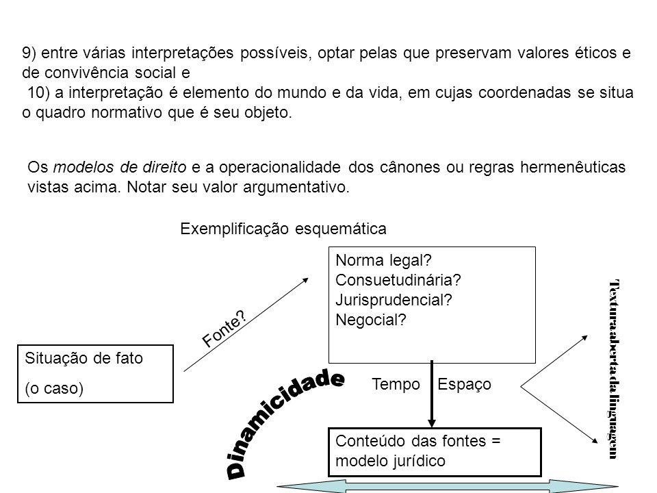 9) entre várias interpretações possíveis, optar pelas que preservam valores éticos e de convivência social e