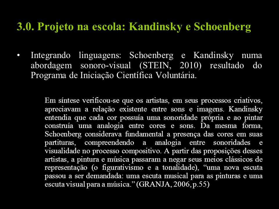 3.0. Projeto na escola: Kandinsky e Schoenberg