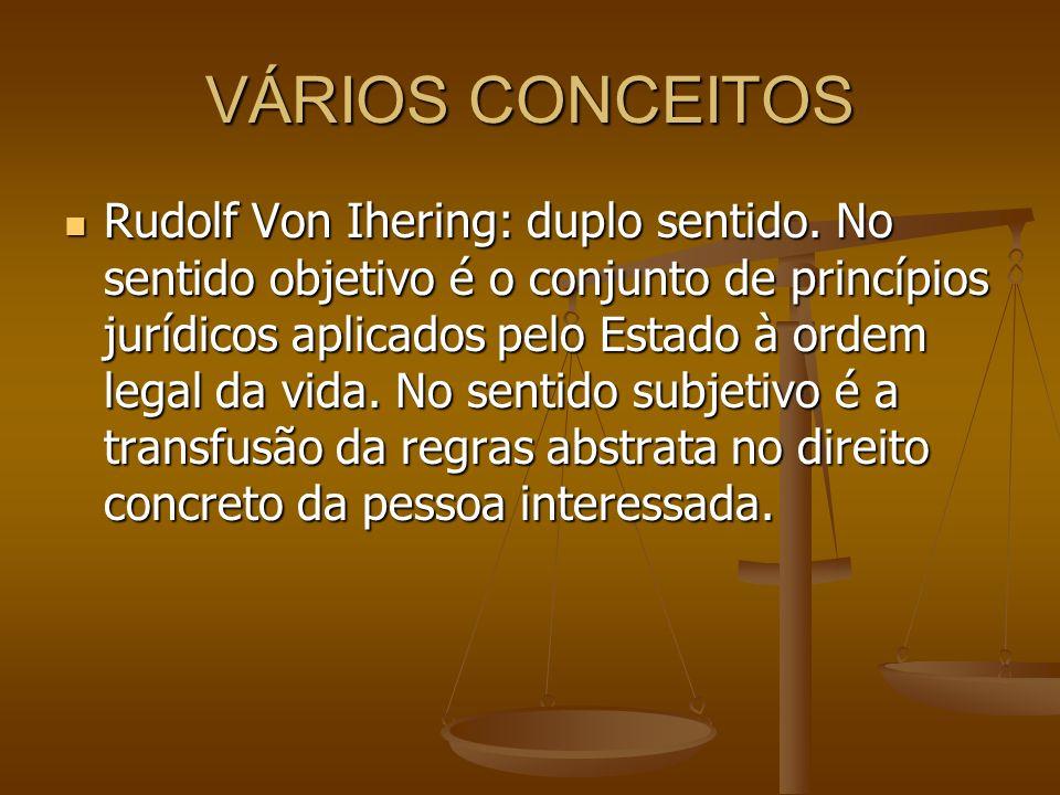 VÁRIOS CONCEITOS