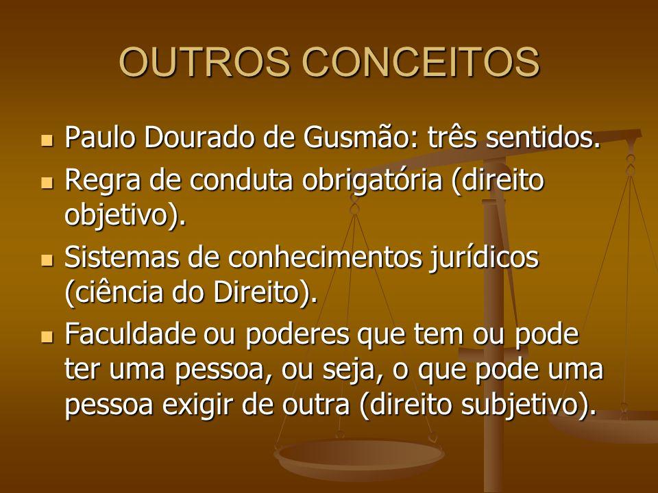 OUTROS CONCEITOS Paulo Dourado de Gusmão: três sentidos.