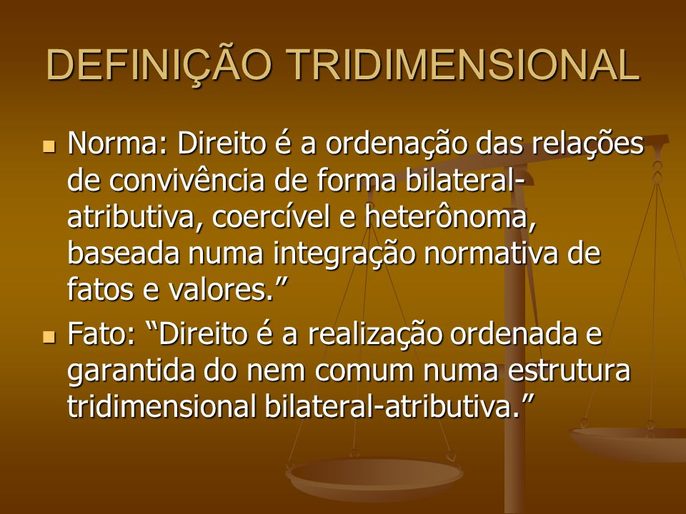 DEFINIÇÃO TRIDIMENSIONAL