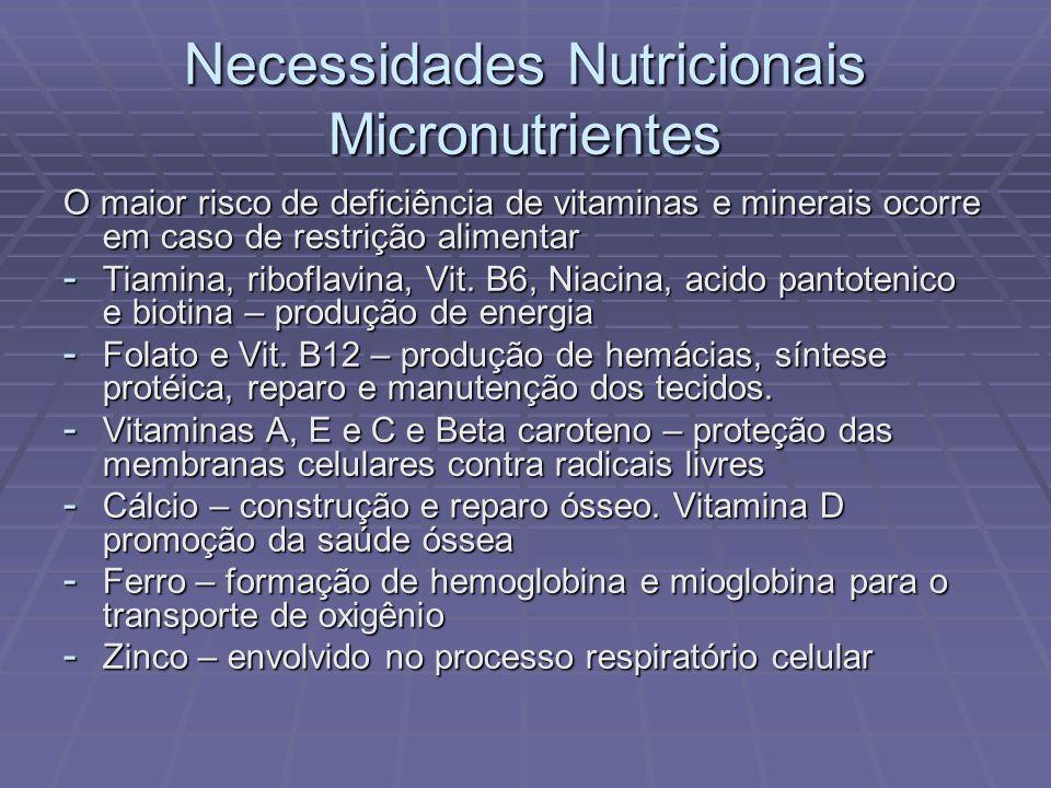 Necessidades Nutricionais Micronutrientes