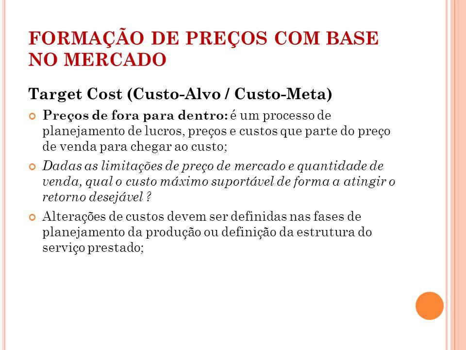FORMAÇÃO DE PREÇOS COM BASE NO MERCADO